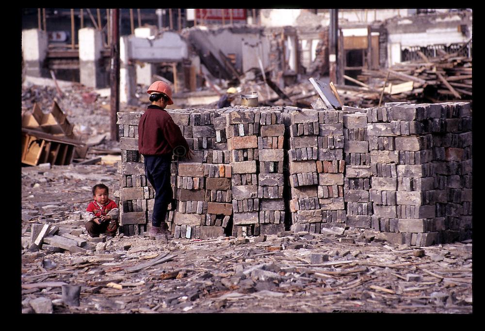 SHANGHAI, CHINA:   Construction never stops in Shanghai, China. Photograph by David Paul Morris