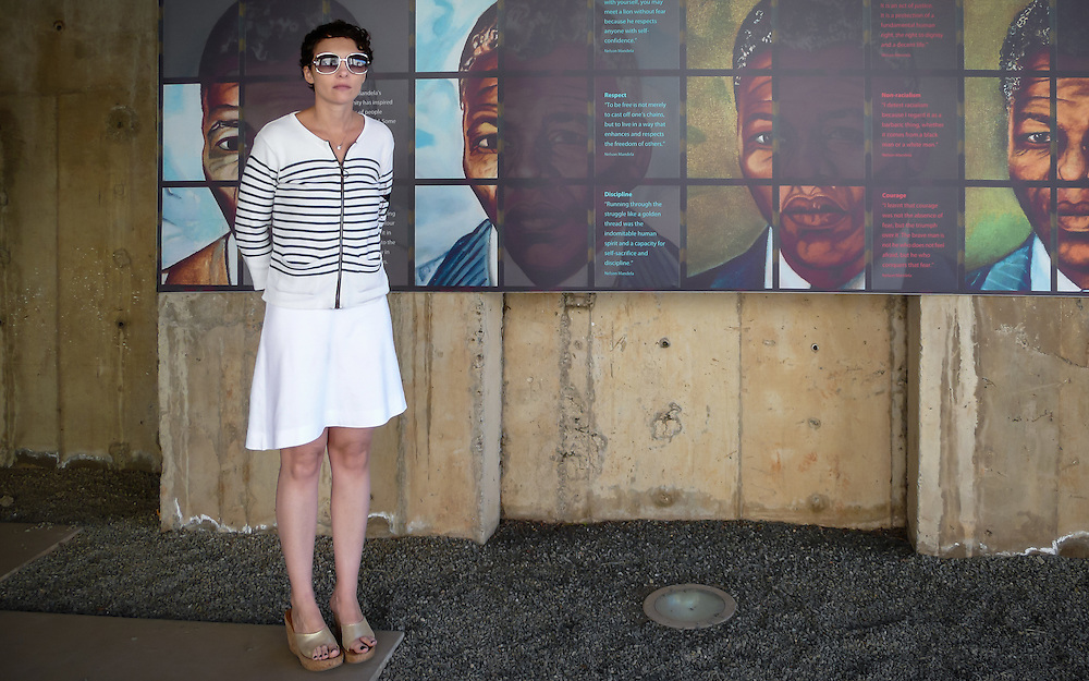 Nelson Mandela and Yana at the Apartheid Museum in Johannesburg South Africa.