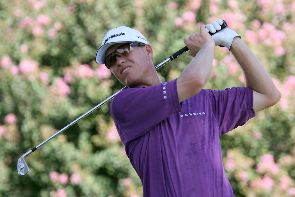 10 August 2007: John Senden tees off on the 9th hole during the second round of the 89th PGA Championship at Southern Hills Country Club in Tulsa, OK.
