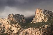 Mountain on cloudy day, Col de Bavella, Corsica, France