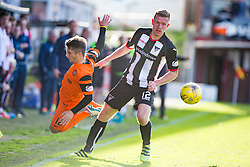 Dundee United's Charlie Telfer and Dunfermline's Lee Ashcroft. Dunfermline 1 v 3 Dundee United, Scottish Championship game played 10/9/2016 at East End Park.