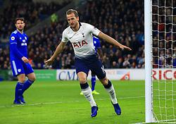 File photo dated 01-01-2019 of Tottenham Hotspur's Harry Kane celebrates scoring.
