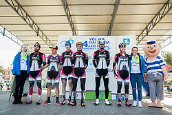 ASANOV Enver (AZE) of Synergy Baku Cycling Project, SANKOVIĆ Alex (SLO) of KK Grega Bole Bled, ALIZADA Elgun (AZE) of Synergy Baku Cycling Project, 124+, ILIASOV Ismail (AZE) of Synergy Baku Cycling Project, RUMAC Josip (CRO) of Synergy Baku Cycling Project during the UCI Class 1.2 professional race 4th Grand Prix Izola, on February 26, 2017 in Izola / Isola, Slovenia. Photo by Vid Ponikvar / Sportida