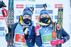 Hanna Oeberg of Sweden wins the bronze medal, Sebastian Samuelsson of Sweden wins the bronze medal during the IBU World Championships Biathlon Single Mixed Relay competition on February 18, 2021 in Pokljuka, Slovenia. Photo by Vid Ponikvar / Sportida