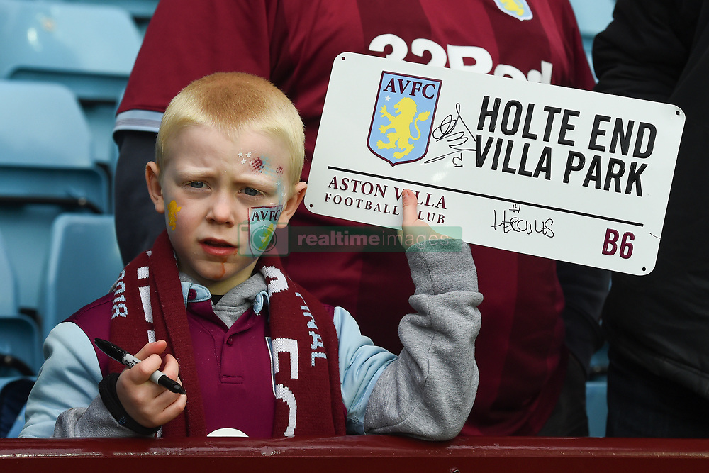 March 16, 2019 - Birmingham, England, United Kingdom - Young vIlla supporter patiently waits for Aston Villa Manager Dean Smith's signature during the Sky Bet Championship match between Aston Villa and Middlesbrough at Villa Park, Birmingham on Saturday 16th March 2019. (Credit Image: © Mi News/NurPhoto via ZUMA Press)