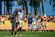 January 30 2016: Hall of Famer Michael Irvin talks with Seattle Seahawks Richard Sherman during the final Pro Bowl practice at Turtle Bay Resort on Oahu, HI. (Photo by Aric Becker/Icon Sportswire)
