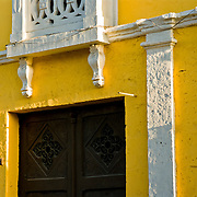 """Brilliantly colored buildings in Arequipa, the """"White City"""", Peru."""