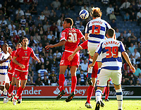 Photo: © Andrew Fosker / Richard Lane Photography - Kaspars Gorkss gets up to head the ball leading to the QPR 5th goal - which was own goal by Stephen  Foster credited to Jay Simpson Queens Park Rangers v Barnsley - Coca-Cola Championship - 26/09/09 Loftus Road - London -  UK - All Rights Reserved