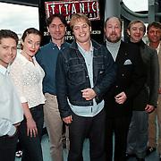 Persconferentie musical Titanic, cast