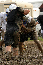 1 August 2003: Semi Professional Football.  Twin City Storm Mud Scrimmage in Bloomington - Normal Illinois