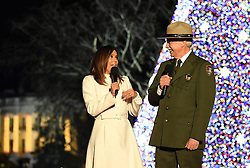 December 1, 2016 - Washington, DC, United States of America - Actress Eva Longoria and National Park Service Director Jonathan Jarvis host the lighting of the national Christmas tree ceremony on the Ellipse December 1, 2016 in Washington, DC. (Credit Image: © Interior Department/Planet Pix via ZUMA Wire)