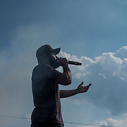 Rapper, Diamond Miller, performs at the first ever Made From Scratch Festival in Concord, NC.