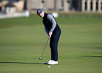 Golf - 2021 Alfred Dunhill Links Championship - Day Four - The Old Course at St Andrew's - Day Four -  Sunday 3rd October 2021<br /> <br /> Ronan Keating putts on the 17th<br /> <br /> Credit: COLORSPORT/Bruce White