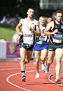 Zach Ziemek (USA) runs 4:46.55 in the 1,500m during the decathlon at the DecaStar meeting, Saturday, June 23, 2019, in Talence, France. Ziemek placed second with 8,344 points. (Jiro Mochizuki/Image of Sport)