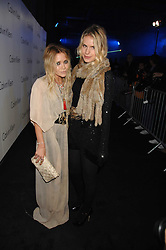 Left to right, MARY KATE OLSEN and EUGENIE NIARCHOS at an exclusive installation by Martin Creed and presentation of the Calvin Klein Spring 2008 collection held at P3 35 Marylebone Road, London on 15th October 2007.<br />