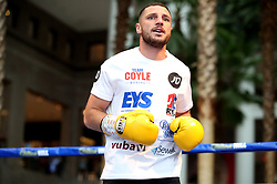 Tommy Coyle during the public work-out at the Brookfield Place, New York.