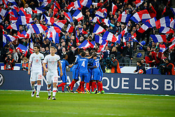 29.03.2016, Stade de France, St. Denis, FRA, Testspiel, Frankreich vs Russland, im Bild evra patrice, martial anthony, varane raphael, gignac andre pierre, diarra lassana // during the International Friendly Football Match between France and Russia at the Stade de France in St. Denis, France on 2016/03/29. EXPA Pictures © 2016, PhotoCredit: EXPA/ Pressesports/ Sebastian Boue<br /> <br /> *****ATTENTION - for AUT, SLO, CRO, SRB, BIH, MAZ, POL only*****