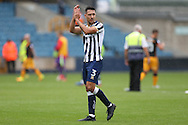 Joe Martin of Millwall applauding the fans after full time. EFL Skybet football league one match, Millwall v Bradford city at The Den in London on Saturday 3rd September 2016.<br /> pic by John Patrick Fletcher, Andrew Orchard sports photography.