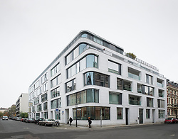 Modern new luxury apartment and commercial building on Linienstrasse,  in Mitte Berlin Germany
