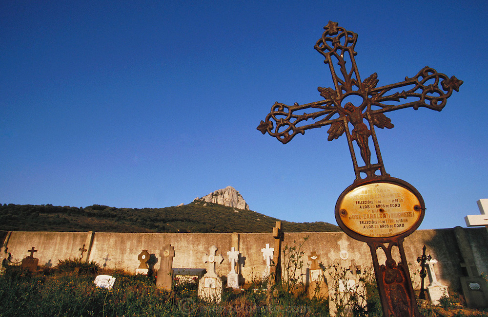 The cemetery at the town of Uzue.  Navarra, Spain.