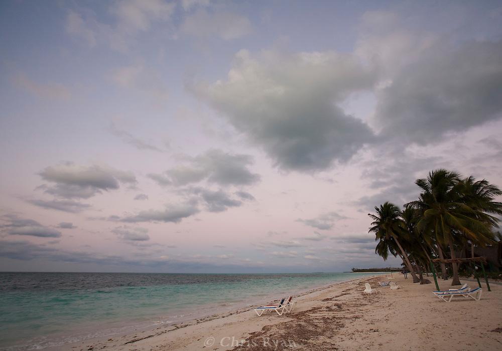 Dusk at beach on Cayo Levisa, Cuba