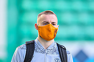 Allan Campbell (#6) of Motherwell FC arrives before the SPFL Premiership match between Hibernian FC and Motherwell FC at Easter Road, Edinburgh, Scotland on 27 February 2021.