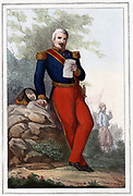 Aimable Jean Jacques Pelissier (1794-1864) French soldier, 1857. Served in Spain, Algeria and  the Crimea. During the Crimean War (Russo-Turkish W ar) 1853-1856 Pelissier commanded the first corps of French army which co-operated with British at Sebastapol. Carried fort of Malakoff by storm (1856). Marshal of France 1855; Duke of Malakoff 1856; Ambassador to Britain 1850; Governor-general of Algeria 1860.  Coloured lithograph.