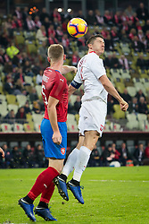 November 15, 2018 - Gdansk, Pomorze, Poland - Jakub Brabec (5) Robert Lewandowski (9) during the international friendly soccer match between Poland and Czech Republic at Energa Stadium in Gdansk, Poland on 15 November 2018  (Credit Image: © Mateusz Wlodarczyk/NurPhoto via ZUMA Press)