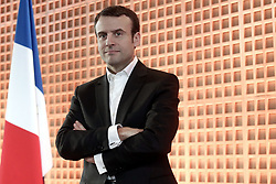 French Minister of Economy, Recovery of Productivity and Digital Affairs Emmanuel Macron addresses his New Year wishes to the members of the media, at the ministry's headquarters, in Paris, France on January 29, 2015. Photo by Stephane Lemouton/ABACAPRESS.COM