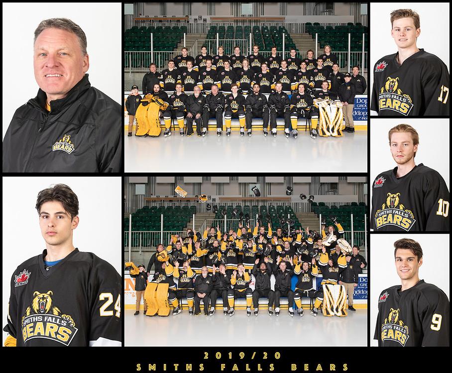 2019/20 Smiths Falls Bears Junior 'A' Portraits / Team Photo<br /> <br /> March 3, 2020<br /> <br /> Photo's: Steve Kingsman for Smiths Falls Bears