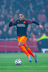 Mohammed Ihattaren #24 of PSV Eindhoven in action during the match between Ajax and PSV at Johan Cruyff Arena on February 02, 2020 in Amsterdam, Netherlands