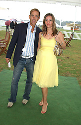 BEN DE LISI and DEBBIE LOVEJOY at the 2005 Cartier International Polo between England & Australia held at Guards Polo Club, Smith's Lawn, Windsor Great Park, Berkshire on 24th July 2005.<br /><br />NON EXCLUSIVE - WORLD RIGHTS