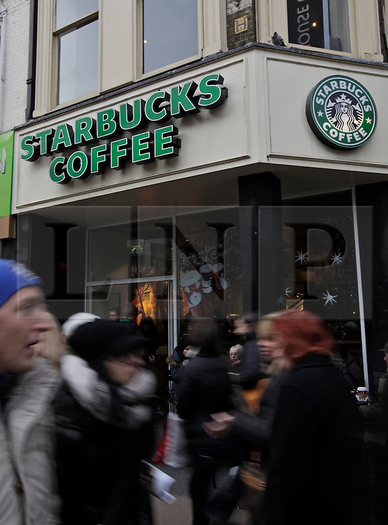 © Licensed to London News Pictures. 15/02/2012. London, U.K..starbucks coffee today (6/12/12) after they announced it is now planning to pay more corporation tax than is currently required by law..Photo credit : Rich Bowen/LNP