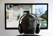 Nederland, Nijmegen, 31-1-2014NIET VOOR DE WEGENER PERSDIENST OF AANGESLOTEN KRANTEN.Een jongen, puber, speelt de computergame world of warcraft.Foto: Flip Franssen/Hollandse Hoogte