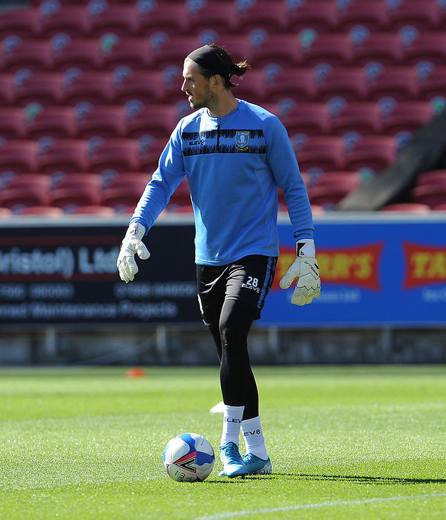 Sheffield Wednesday's Joe Wildsmith during the pre-match warm-up <br /> <br /> Photographer Ian Cook/CameraSport<br /> <br /> The EFL Sky Bet Championship - Bristol City v Sheffield Wednesday - Sunday 27th September, 2020 - Ashton Gate - Bristol<br /> <br /> World Copyright © 2020 CameraSport. All rights reserved. 43 Linden Ave. Countesthorpe. Leicester. England. LE8 5PG - Tel: +44 (0) 116 277 4147 - admin@camerasport.com - www.camerasport.com