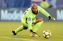 July 19, 2017 - Philadelphia, PA, USA - Philadelphia, PA - Wednesday July 19, 2017: Tim Howard during a 2017 Gold Cup match between the men's national teams of the United States (USA) and El Salvador (SLV) at Lincoln Financial Field. (Credit Image: © John Dorton/ISIPhotos via ZUMA Wire)