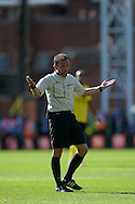 Referee Keith Stroud during the second half. Barclays Premier league match, Crystal Palace v Aston Villa at Selhurst Park in London on Saturday 22nd August 2015.<br /> pic by John Patrick Fletcher, Andrew Orchard sports photography.