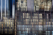 Deliberate blur on generic office buildings in the City of London - the capital's financial district (aka The Square Mile), on 2nd November 2018, in London, England.