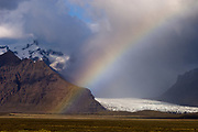 Vatnajokull glacier, Skaftafell National Park, South coast, Iceland.