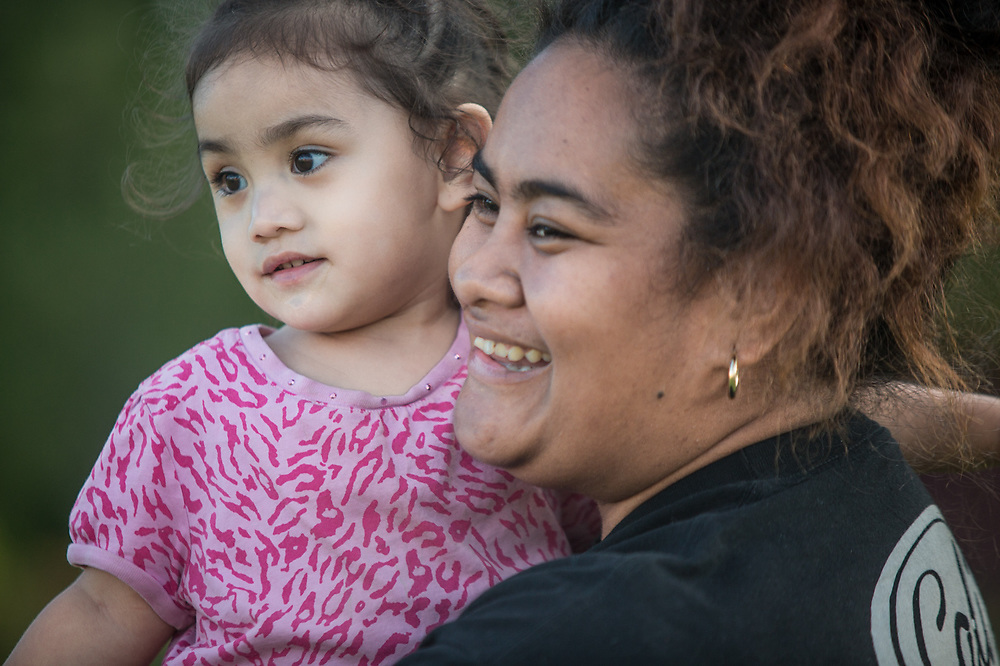 Connie Maafala and her niece Rozario at Pioneer Park, Anchorage ktuasivi@yahoo.com