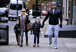 Nov. 26, 2013 - New York City, NY, USA - Actors Liev Schreiber and Naomi Watts take their children Sam and Sasha to school on November 26 2013 in New York City  (Credit Image: © Curtis Means/Ace Pictures/ZUMAPRESS.com)