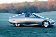 One of the first commercial large scale production electric cars made by General Motors was the Impact.