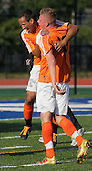 Middletown, New York - Hicksville players celebrate their 1-0 victory over Webster Schroeder in the New York State Class AA boys' soccer championship game on Nov. 20, 2011.