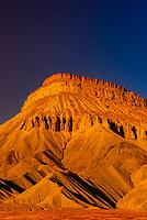 Mount Garfield, part of the Little Book Cliffs (near Grand Junction), Western Colorado.