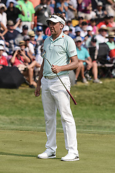 August 12, 2018 - Town And Country, Missouri, U.S - IAN POULTER from England reacts to his putt on the 18th green during round four of the 100th PGA Championship on Sunday, August 12, 2018, held at Bellerive Country Club in Town and Country, MO (Photo credit Richard Ulreich / ZUMA Press) (Credit Image: © Richard Ulreich via ZUMA Wire)