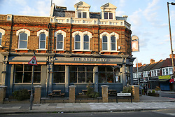 © Licensed to London News Pictures. 11/07/2020. London, UK. View of THE WESTBURY pub on Westbury Avenue in Wood Green, north London. A 23 year old man was stabbed near THE WESBURY pub on Westbury Avenue at 10.40pm on Friday 10 July. The victim was to hospital where his condition has been assessed as critical. Photo credit: Dinendra Haria/LNP