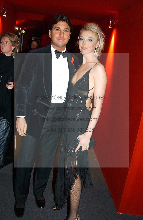 """MISS TAMARA BECKWITH and MR GEORGE VERONI  at the 10th annual British Red Cross London Ball.  This years ball theme was Indian based - """"Yaksha - Yakshi: Doorkeepers to the Divine"""" and was held at The Room, Upper Ground, London on 1st December 2004.  Proceeds from the ball will aid vital humanitarian work, including HIV/AIDS projects that the Red Cross supports in the UK and overseas.<br /><br />NON EXCLUSIVE - WORLD RIGHTS"""