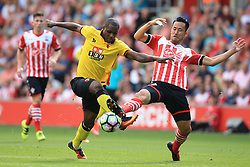 13 August 2016 - Premier League - Southampton v Watford - Maya Yoshida of Southampton in action with Odion Ighalo of Watford - Photo: Marc Atkins / Offside.