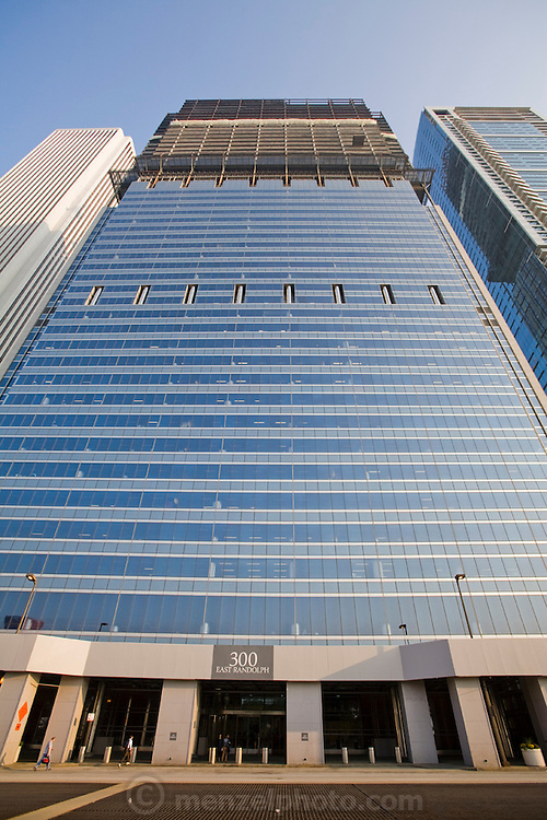 The highrise at 300 East Randolph St., Chicago, Illinois, where ironworker Jeff Devine works. (Jeff Devine is featured in the book What I Eat, Around the World in 80 Diets.)