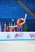Hayakawa Sakura during qualifying at clubs in Pesaro World Cup 11 April 2015. Sakura is a Japan rhythmic gymnastics athlete born March 17, 1997 in Osaka, Japan. She appeared in Senior competitions in the 2013 season.